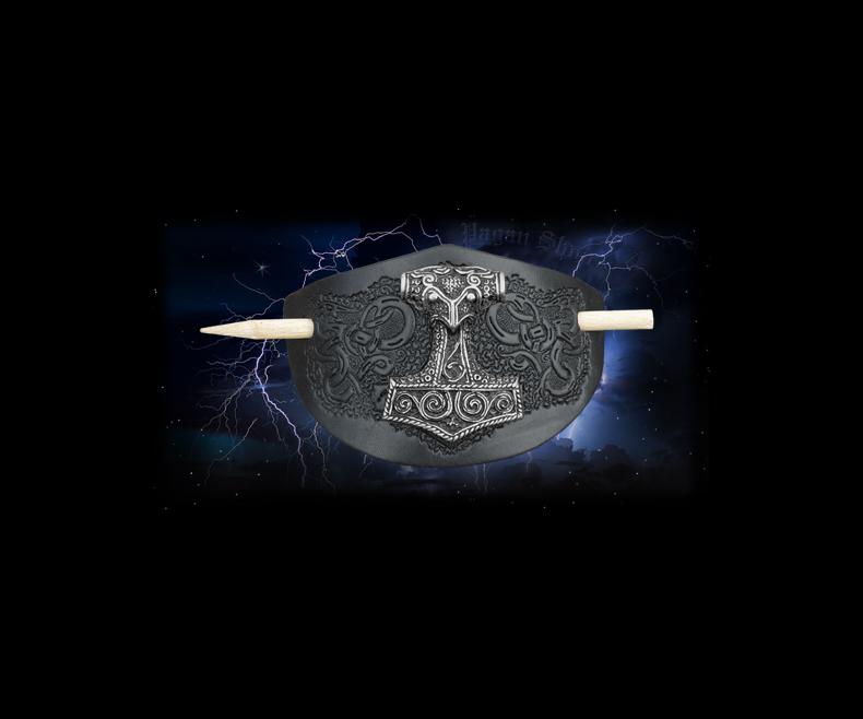 Hair clip Thor's hammer black