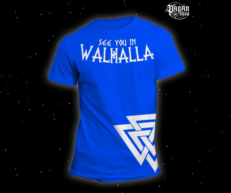 Triko See you in Walhalla světle modré