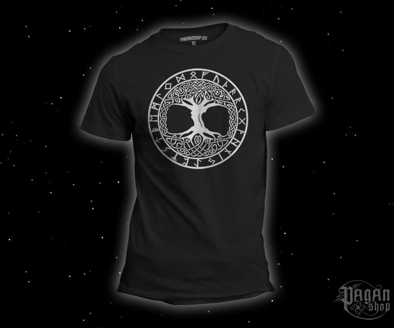 T-shirt Tree of life Futhark black