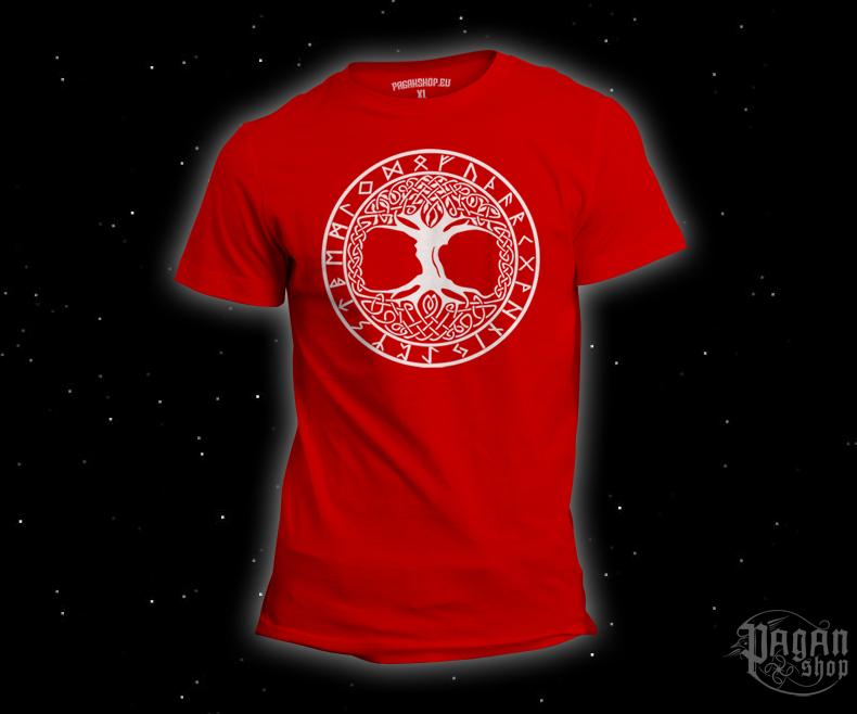 T-shirt Tree of life Futhark red