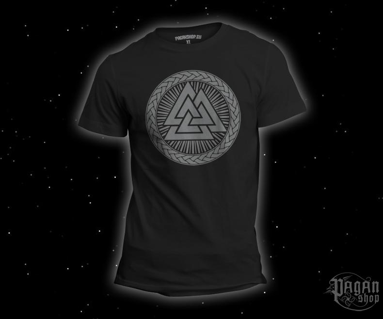 T-shirt Valknut black - grey print