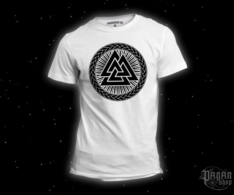 T-shirt Valknut - white