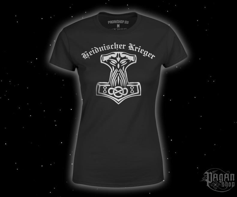 Dámské triko Heidnischer Krieger s bílým potiskem