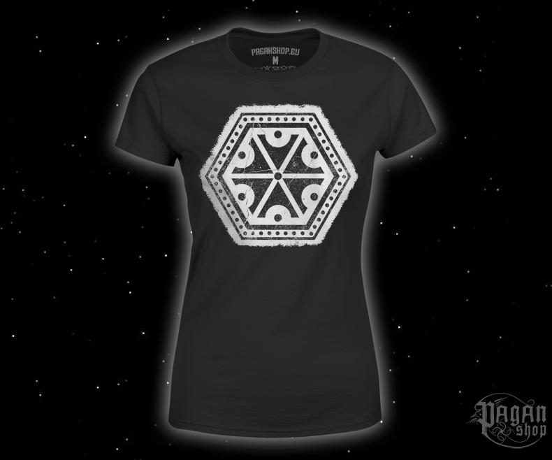 Dámské triko Znak hromu Perun - bílý potisk
