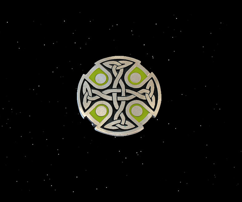 Belt buckle Celtic cross Crann