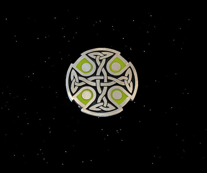 Belt buckle Celtic cross Crann
