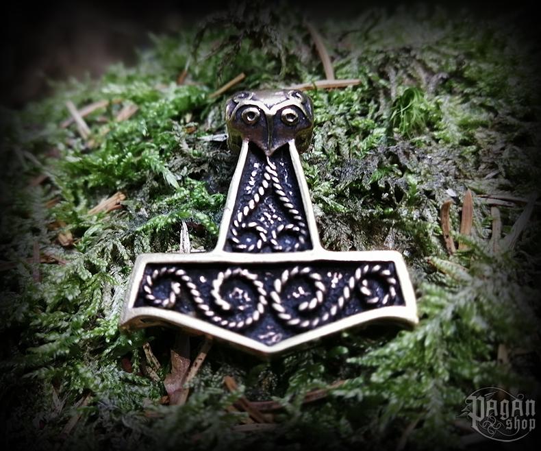 Přívěsek Thorovo kladivo Thorkan - bronz