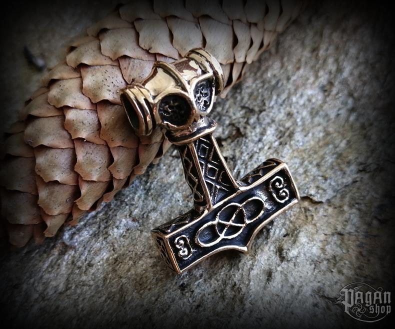 Přívěsek Thorovo kladivo Thorgaard - bronz