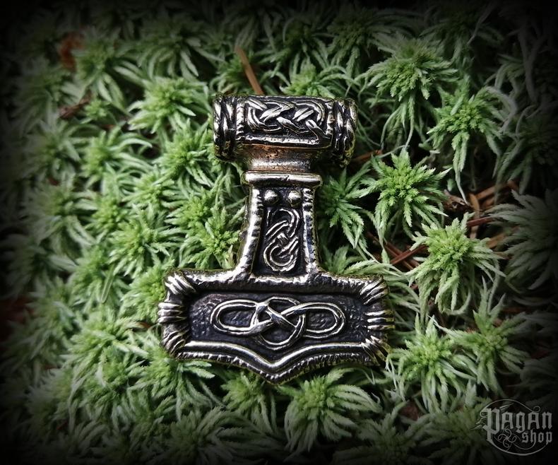 Pendant Thor's hammer Asgard - bronze