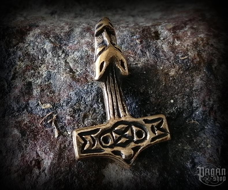 Přívěsek Thorovo kladivo Wolf - bronz