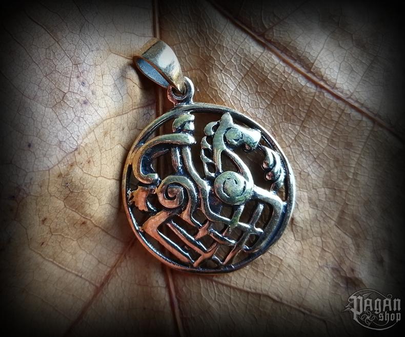 Pendant Odin and Sleipnir Rída - bronze