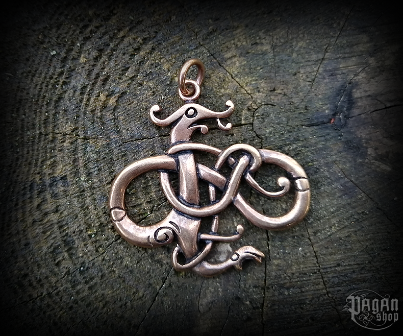 Přívěsek Vikingský drak Urnes - bronz