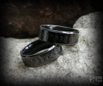 Ring Futhark Svartur - 316L