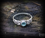 Ring Tamia with light blue crystal - 925 sterling silver