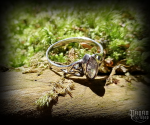 Ring Rigani with white crystal - 925 sterling silver