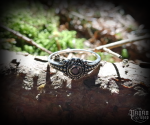 Ring Amara with black crystal - 925 sterling silver