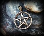 Pendant Pentagram Emrys - bronze