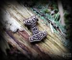 Beard bead Thor's hammer Steinthór - bronze