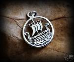 Pendant Viking ship Svold - 925 sterling silver