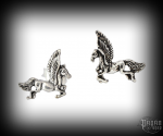 Stud earrings Horse Pegasus - 925 sterling silver