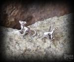 Stud earrings Kangaroo Boomer - 925 sterling silver