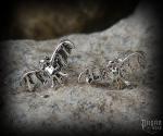 Stud earrings Bat Sala - 925 sterling silver