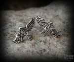 Stud earrings Raven Hugin and Munin - 925 sterling silver