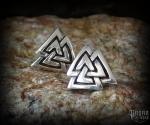 Stud earrings Valknut Asa - 925 sterling silver
