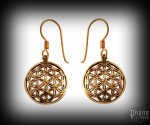 Hook earrings Flower Svarga - bronze