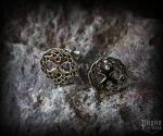 Stud earrings Tree of life Yggdrasil - bronze