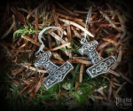 Hook earrings Thor's hammer Thorhawk - 925 sterling silver