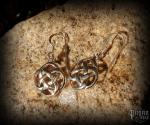Hook earrings Celtic Raia - 925 sterling silver