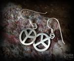 Hook earrings Rune Algiz - 925 sterling silver