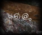 Stud earrings Spiral Alia - 925 sterling silver