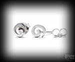 Stud earrings Spiral Amora - 925 sterling silver