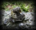 Ring Thor's hammer Tølír - bronze