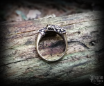 Ring Wolves Geri and Freki - bronze