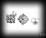 Stud earrings Celtic Merlons - 925 sterling silver