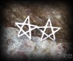 Stud earrings Pentagram Iska - 925 sterling silver