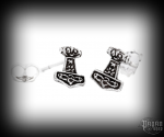 Stud earrings Thor's hammer Thorhawk - 925 sterling silver