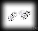 Stud earrings with crystal Celtic Manja - 925 sterling silver