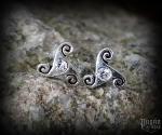 Stud earrings with crystal Triskel Anwyn - 925 sterling silver