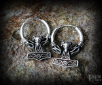 Creole Thor's hammer Vaedderen - 925 sterling silver