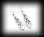 Hook earrings Celtic Raonaid - 925 sterling silver