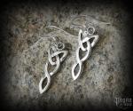 Hook earrings Celtic Kayna - 925 sterling silver
