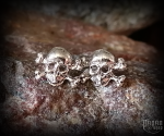 Stud earrings Skull Barlow - 925 sterling silver