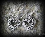 Hook earrings Heart Eyla - 925 sterling silver