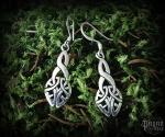 Hook earrings Celtic Nemia - 925 sterling silver