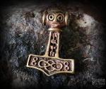 Přívěsek Thorovo kladivo Thoran - bronz