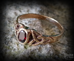 Ring with crystal Mythia - bronze